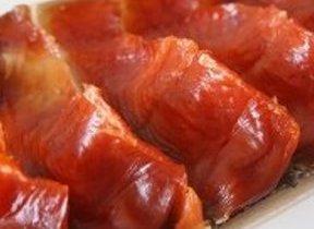 鮭の身がまるで山脈「ロッキーサーモン」 食べ方は豪快にほおばって