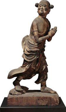 国宝 善財童子立像(文殊菩薩および侍者のうち) 鎌倉時代・建仁3年(1203)~承久2年(1220) 奈良・安倍文殊院蔵