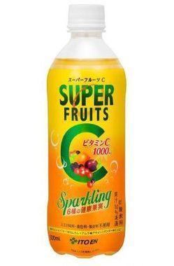 6種のスーパーフルーツ配合!大人の健康果実炭酸飲料