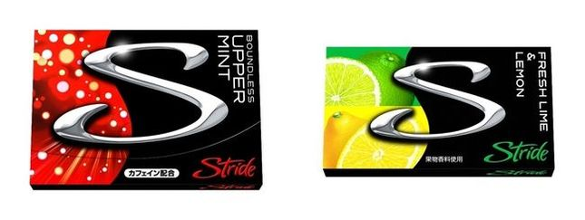 今回発売される「ストライド バウンドレス アッパーミント」と「ストライド フレッシュライム&レモン」
