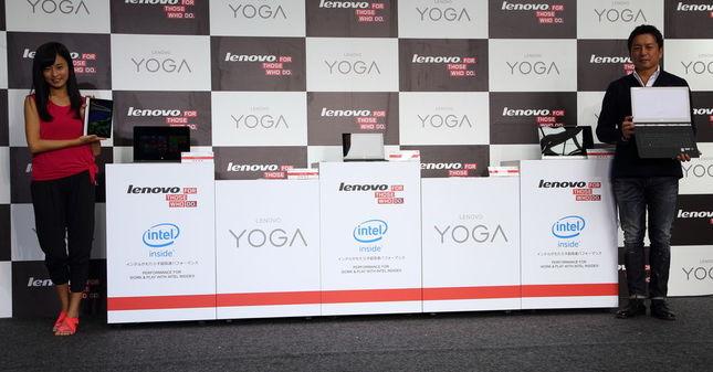 「YOGA Tablet 2 」は5機種が発表され、後日LTE対応機種も発売される