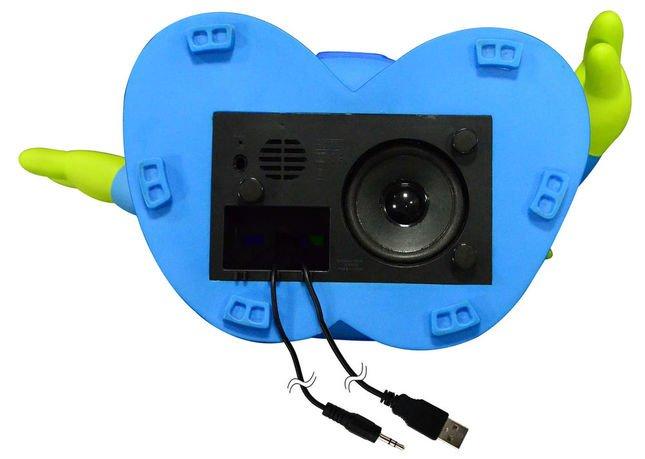 USBプラグと3.5ミリプラグ、77ミリ径スピーカーを搭載 (C)Disney/Pixar