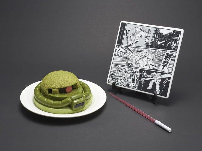 量産型ザクケーキセット (C)創通・サンライズ