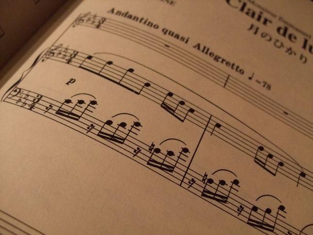 フォーレ「月の光」の楽譜