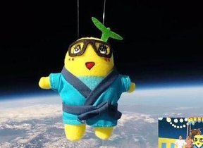 ふなっしーがついに宇宙遊泳!?