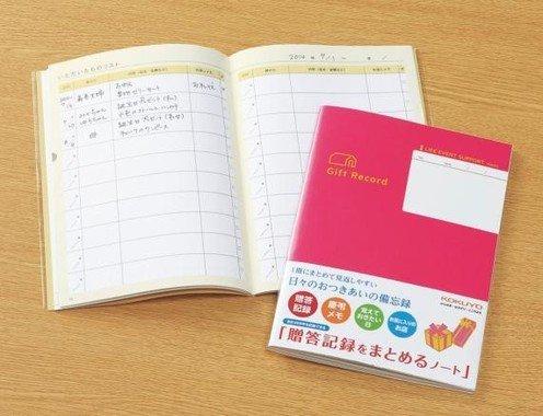 「贈答記録をまとめるノート」
