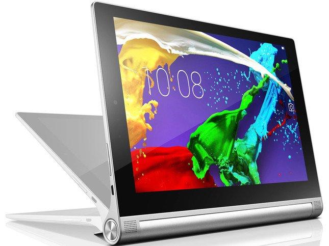 「YOGA Tablet 2」のAndroid版。アルミボディのシックなシルバーカラー