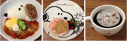 スヌーピーカフェで提供されるメニューの数々 (C)2014 Peanuts Worldwide LLC www.snoopy.co.jp