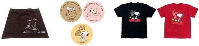 スヌーピーカフェで販売されるコラボグッズ (C)2014 Peanuts Worldwide LLC www.snoopy.co.jp