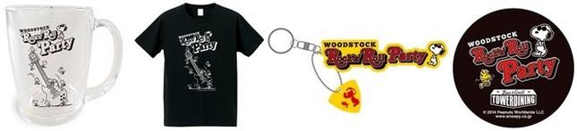 ウッドストックダイニングで販売されるコラボグッズ (C)2014 Peanuts Worldwide LLC www.snoopy.co.jp