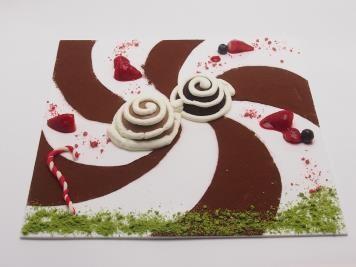 「Guru Guru メガネのチョコレートプレート」