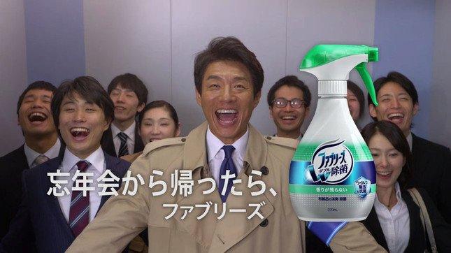 消臭を呼び掛ける松岡修造さん