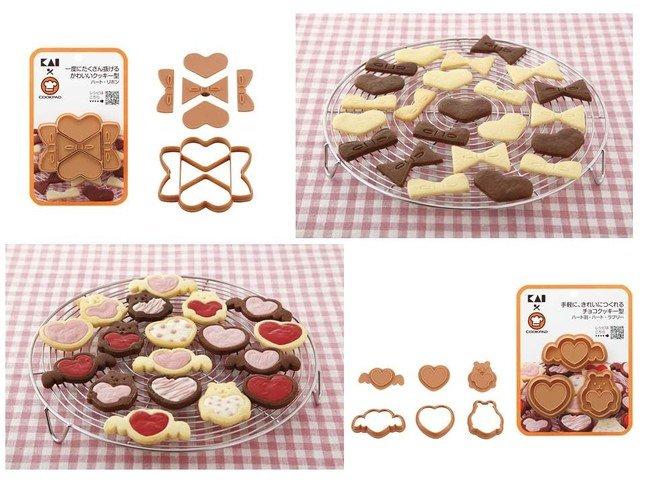 「一度にたくさん抜けるかわいいクッキー型」と「手軽に、きれいにつくれるチョコクッキー型」