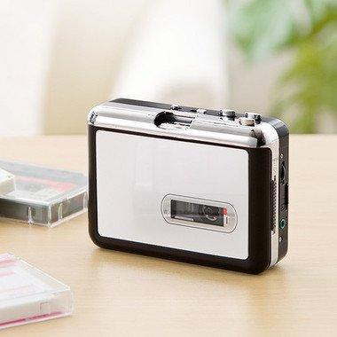 「カセットテープmicroSD変換プレーヤー(カセットテープデジタル化・MP3変換) 400-MEDI013」