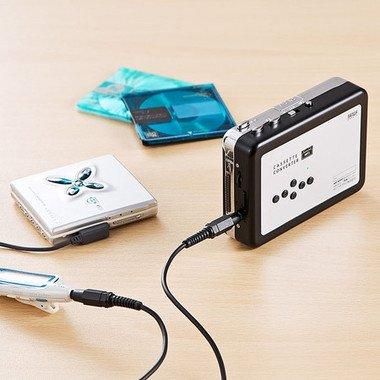 AUX入力に対応しているためMDプレーヤーなどの音源もMP3に変換できる