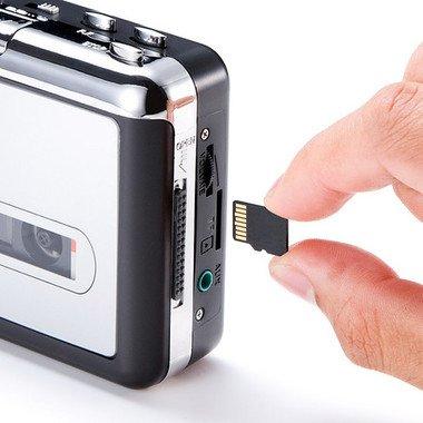 カセットテープの音源を直接microSDに保存可能