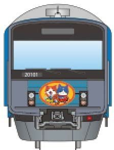 「妖怪ウォッチ」ラッピング電車(イメージ)