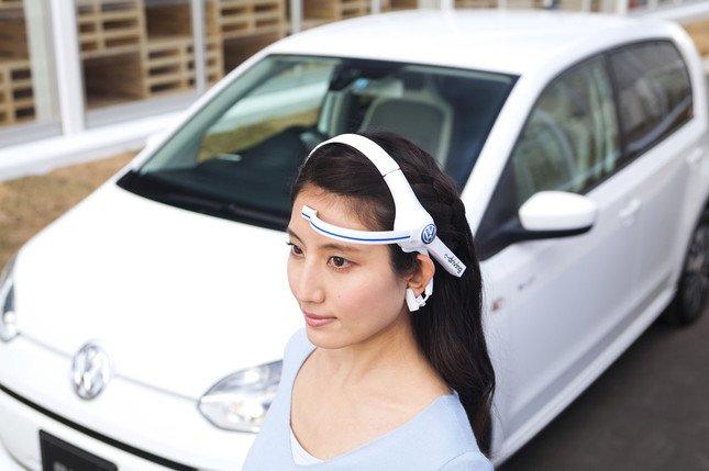試乗中に参加者の脳波を測定