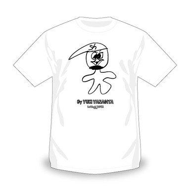 柳田選手が描いた「ハリー・ホークス」をデザインしたTシャツ