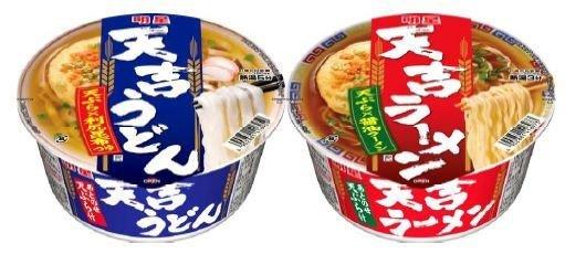 天ぷらとうどんはよく見かけるが、ラーメンとの組み合わせは珍しい