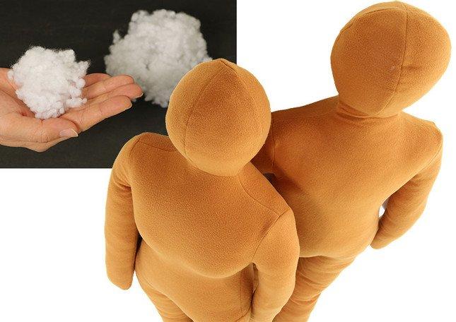 ぬいぐるみに使用する粒綿を採用し、リアルな抱き心地を実現