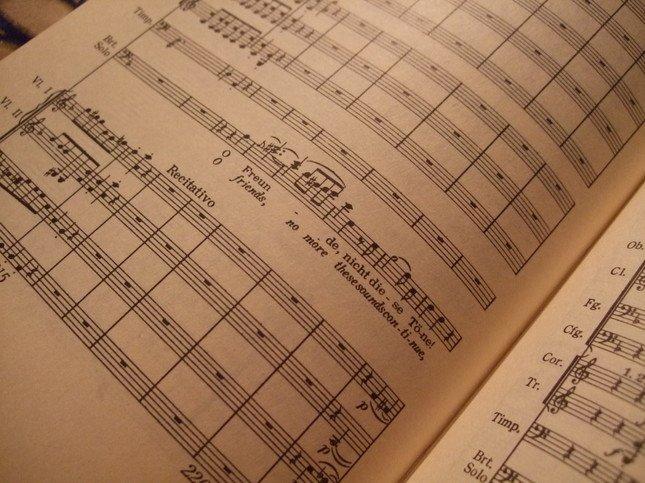 「おお、友よ、このような音ではない!」の楽譜部分