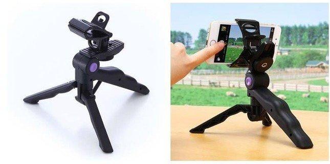 「iPhone・スマホ三脚スタンド(iPhone6/6Plus対応・自撮り対応)200-CAM020N