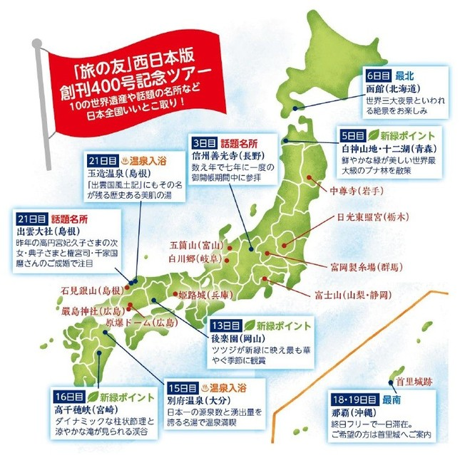 22日間で日本を一周