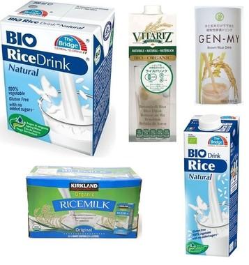 さまざまなライスミルク製品