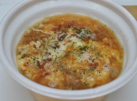 「国産玉ねぎと焦がしチーズのスープ」