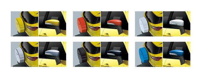 6色から自由に選べるスペアタイヤカバー&ドアミラーカバー