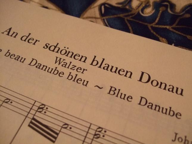 美しき青きドナウの楽譜 タイトル部分