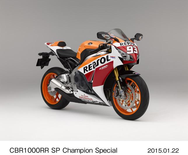 CBR1000RR SP チャンピオンスペシャル(同梱ステッカーを張り付けた状態)