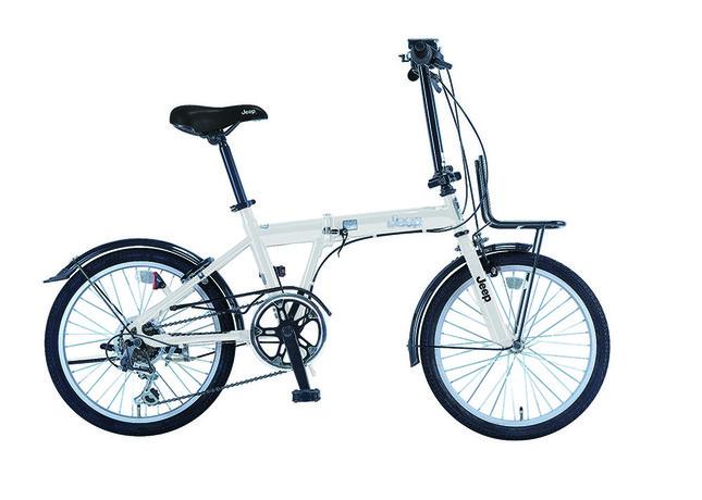 ジープ折りたたみ自転車も標準設定