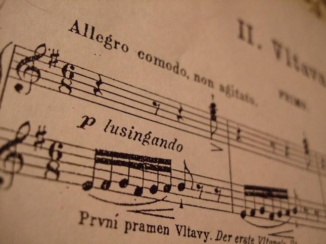 ヴルタヴァの楽譜、冒頭