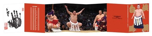 日本相撲協会の協力でセレクトされた横綱白鵬関の取組や土俵入り写真