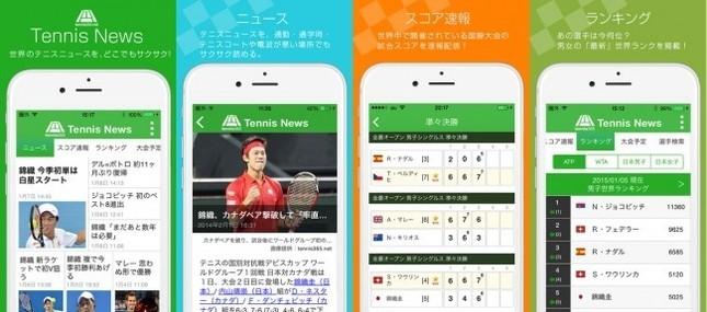 テニスに関するあらゆる情報を扱う