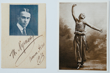 ヴァツラフ・ニジンスキーの写真と自筆サイン(熊川哲也所蔵)
