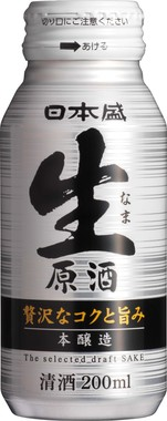 日本盛 生原酒 200mlボトル缶