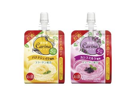 ジュレのお酒「果莉那-Carina-」<バナナシェイク風味><カシスミルク風味>