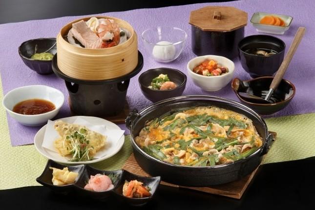 創作和食のコース料理、国産銘柄豚を使用