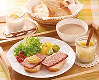 調理例:厚切りミートローフのエッグスラット