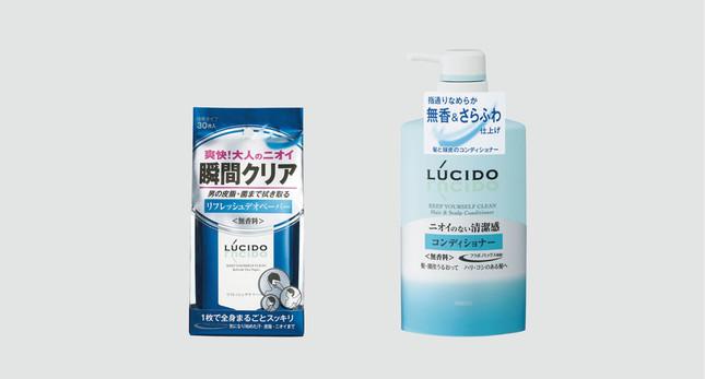 30~40歳代男性に使いやすいよう、どちらも無香料タイプ
