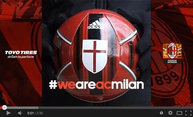 「ACミラン」のオリジナル応援ムービー「#we are ac milan. Forza Milan by TOYO TIRES.」