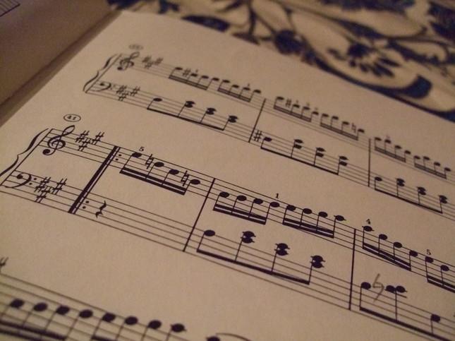 3楽章の楽譜の一部
