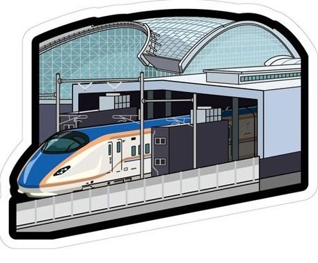 北陸新幹線車両もフォルムカードで楽しめる!