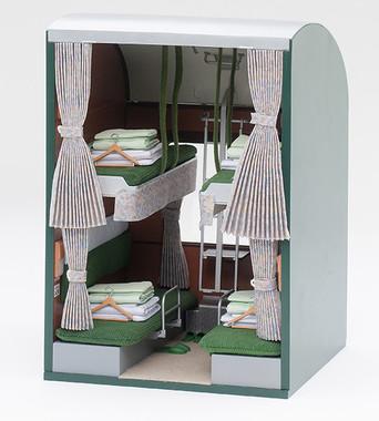 伝統的な寝台車の客室であるBコンパートメントタイプ