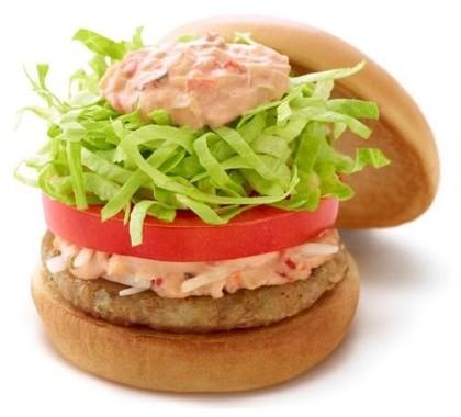 「ソイ野菜バーガー オーロラソース」