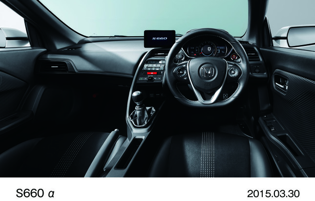 S660 α 6MT インパネ(スポーツレザーシート)オプション装着車