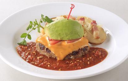 アボカドチーズハンバーグ~スパイシートマトソース